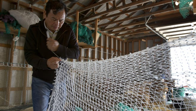 Learn about net making  during the Ostego Bay Working Waterfront Tour.