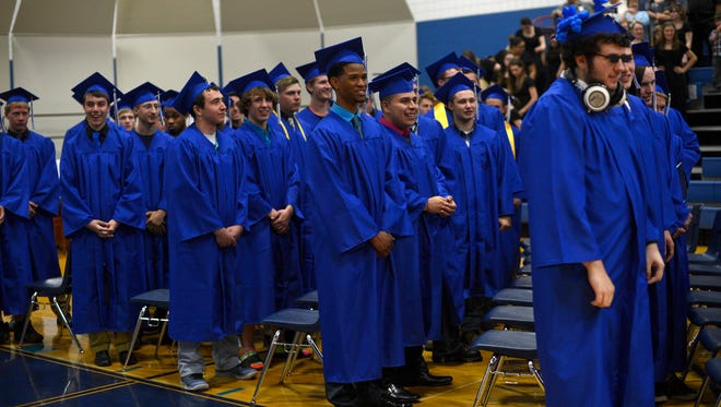 Wrightstown graduation at Wrightstown High School on Friday, May 22, 2015.