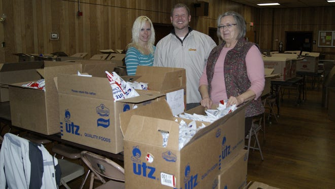 Pictured, from left are: Brandy McCaffery, Chuck Moyer and Deb Young.