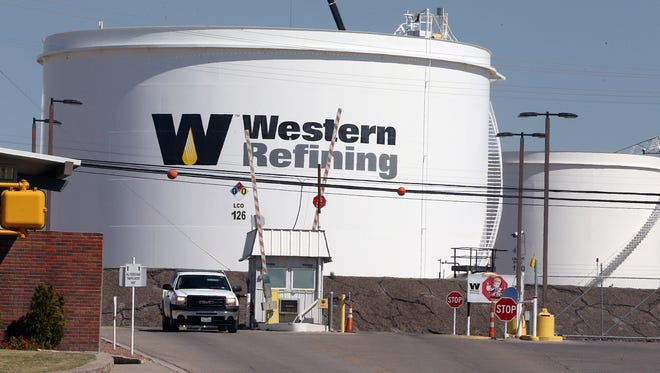 Western Refining, which operates an oil refinery at 6501 Trowbridge in East Central El Paso, where these storage tanks are located, reported an almost 80 percent decline in its profit in the third quarter.