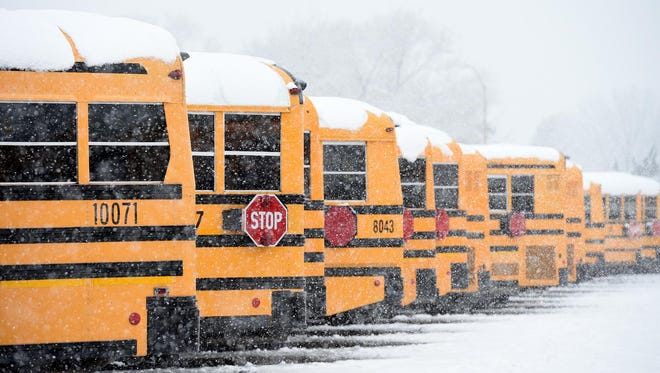 A 2017 RGJ file photo of Washoe County School District buses.