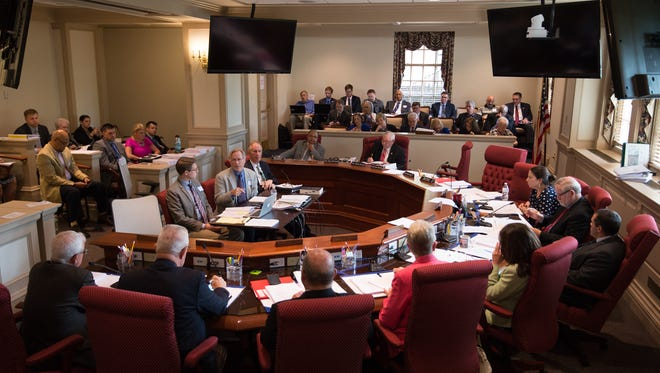 A hearing of the Joint Finance Committee, which has been meeting to approve budget cuts over the past two weeks.