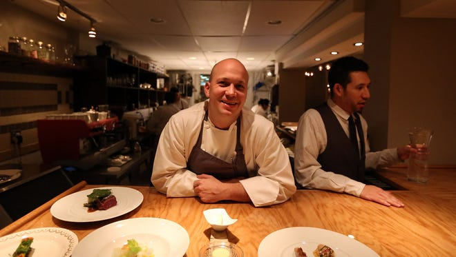 Chef-owner Justin Carlisle, shown in the kitchen of his restaurant Ardent, 1751 N. Farwell Ave.