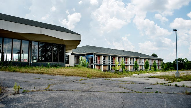 An old hotel, photographed on Monday, July 16, 2018, is seen at the site where a new four-apartment complex that Waypoint Residential is planning build on Dunckel Road near Collins Road in Lansing.