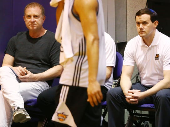Owner Robert Sarver and GM Ryan McDonough (right) have