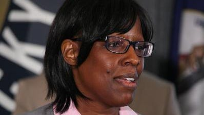 Nominee for Lieutenant Governor Jenean Hampton during a press conference at the Republican Party of Kentucky Headquarters in Frankfort, KY. May 29, 2015