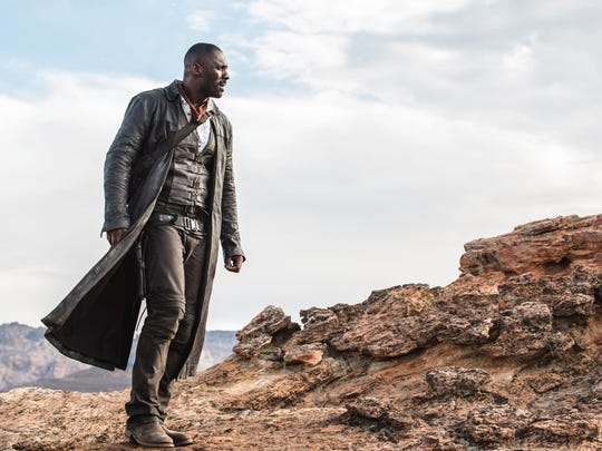 In theaters: 'The Dark Tower,' based on the series of books by Stephen King, takes place in both New York City and a parallel landscape called Mid-World. In it Roland, the last gunslinger, played by Idris Elba, searches for the dark tower hoping it will preserve his dying world.