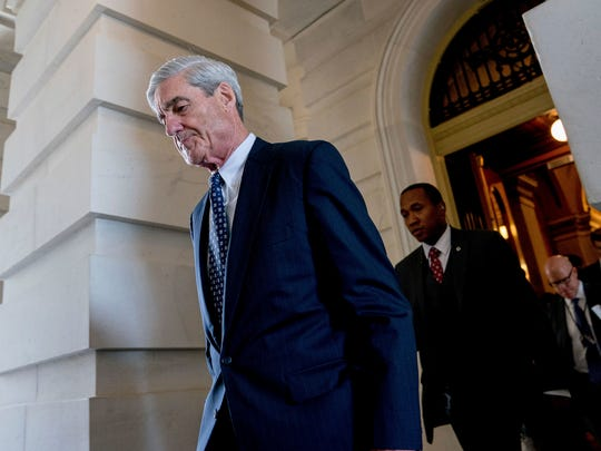 Former FBI director Robert Mueller, the special counsel probing Russian interference in the 2016 election, departs Capitol Hill following a closed-door meeting on June 21, 2017.