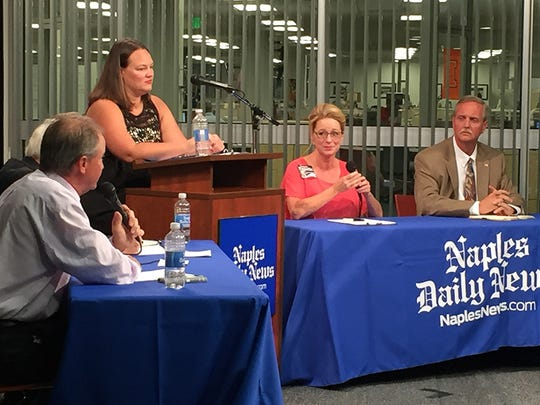 Scene from the Collier County Commission District 5 candidate forum Thursday, Oct. 27, 2016 at the Naples Daily News.