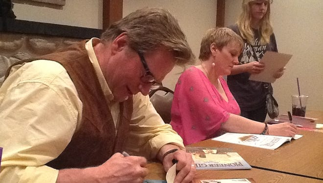 "Dean Butler, left, signed autographs with his ""Little House on the Prairie"" co-star Alison Arngrim in 2013 at Heritage Hill State Historical Park. He's coming back for dinner on Aug. 11."