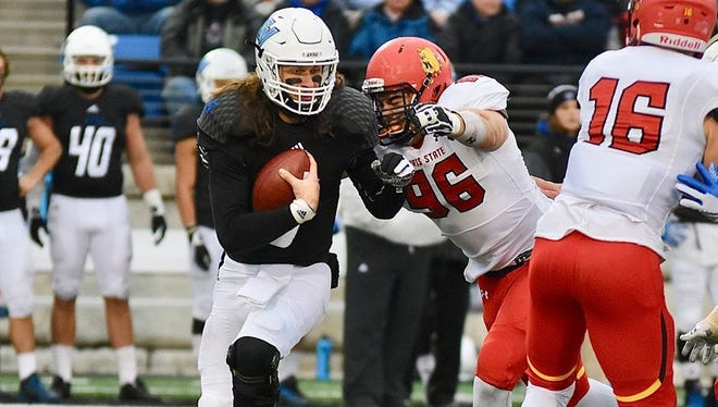 Zach Sieler (96) is the first player from Pinckney and Ferris State to be drafted by an NFL team.
