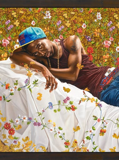Kehinde Wiley, Morpheus, 2008. Oil on canvas. Courtesy of Roberts & Tilton, Culver City, California; Sean Kelly, New York; Galerie Daniel Templon, Paris; and Stephen Friedman Gallery, London.