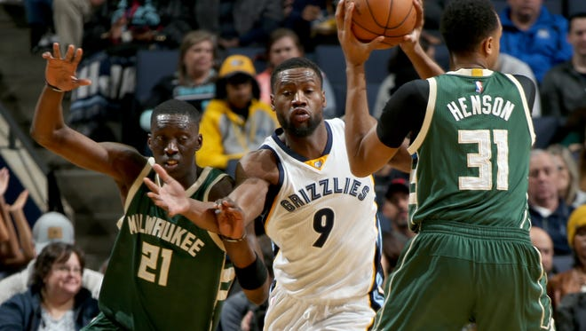 The Grizzlies need the kind of defense Tony Allen, center, provides to win.
