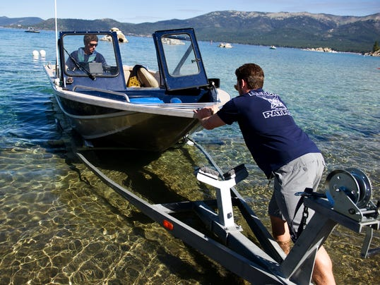 Lake Tahoe boat