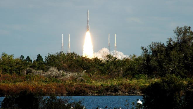 NASA's New Horizons spacecraft launched from Cape Canaveral Air Force Station in Florida on Jan. 19, 2006, aboard an Atlas V rocket as it headed for Pluto.