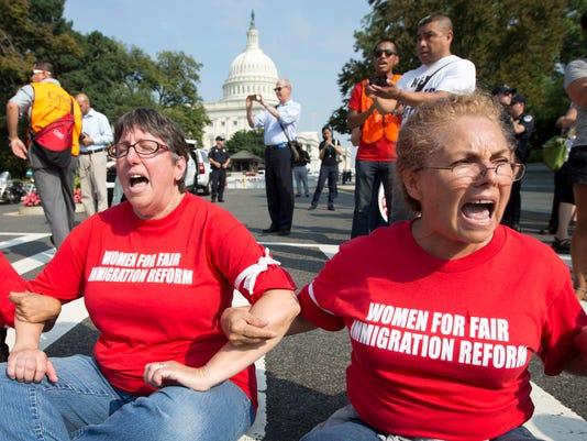 AP APTOPIX Immigration Reform Rally