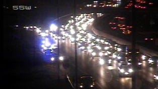 A multi-vehicle crash on Interstate 24 west in Davidson County is snarling the early morning commute