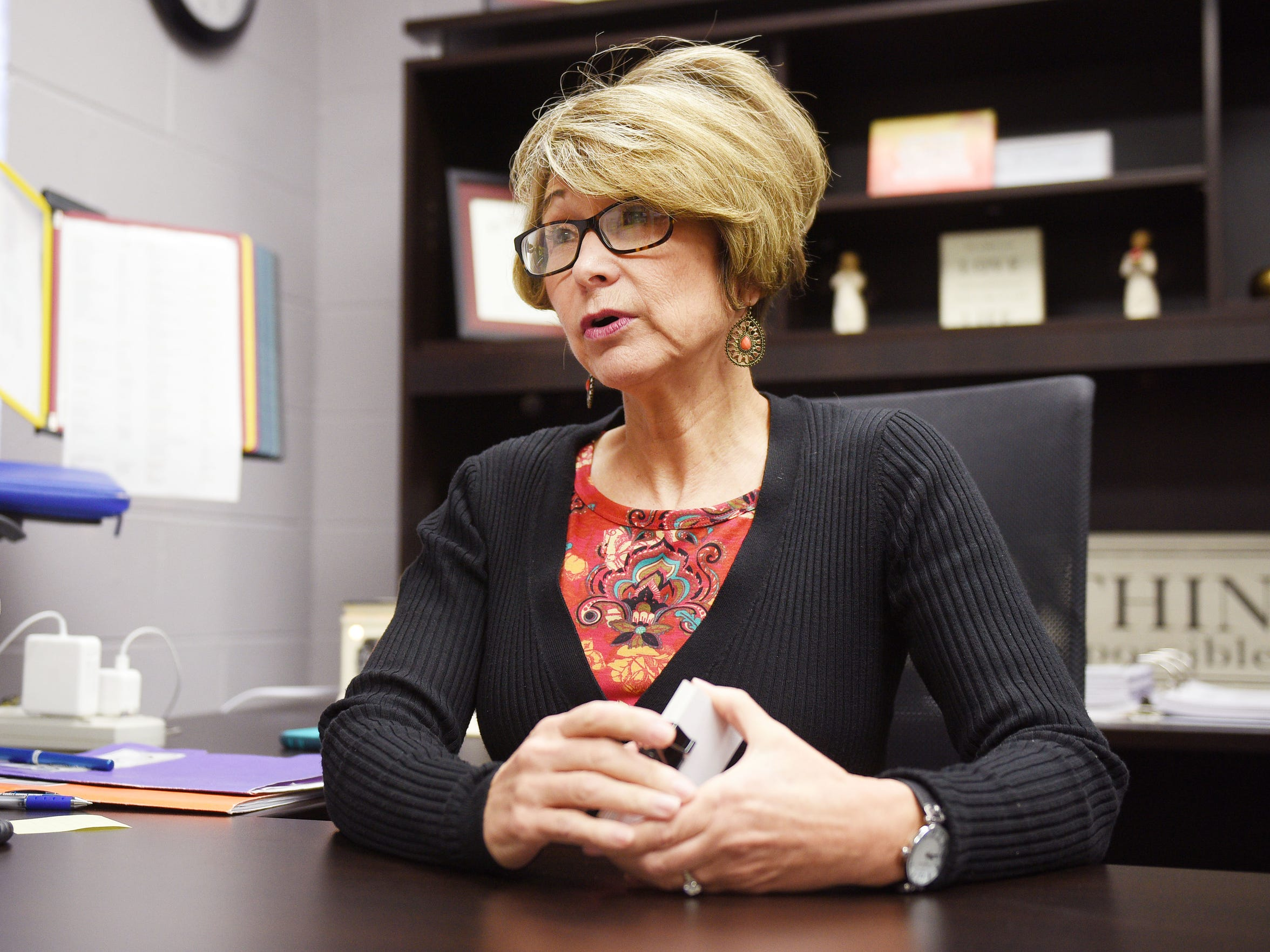 Todd County schools superintendent Karen Whitney talks about the future of the school and her future at Todd County Schools Wednesday, Nov. 15, in Todd County, South Dakota.