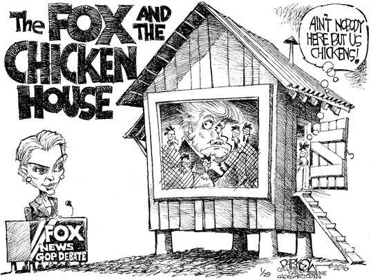 Donald Trump and FOX News debate