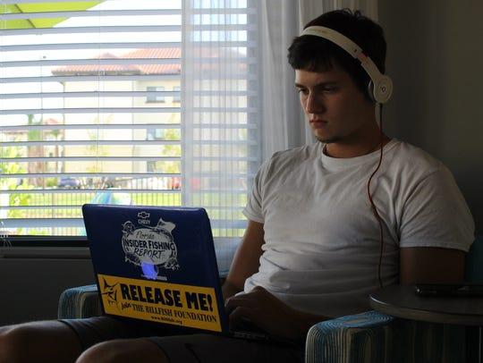 Florida Gulf Coast University junior Robert Ehlies,