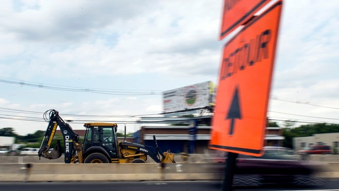 Construction continues along Kaighns Ave near Route 70 Tuesday, June 21 in Pennsauken Township.