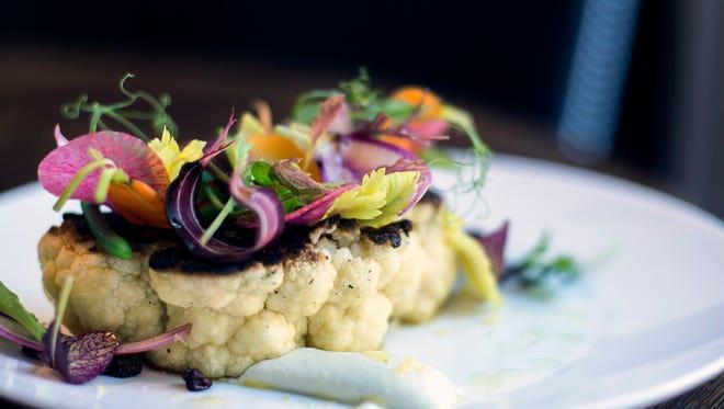 A charred cauliflower steak is a don't-miss dish  from Fork in Philadelphia.