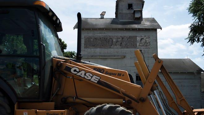 The old Adamo Feed Inc. property awaits demolition earlier this week.