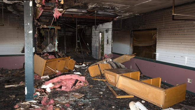 The old Country Club club house shows clear signs of damage from a fire that took place on Friday night.