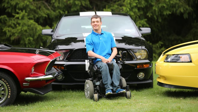 Ryan Berwick, of West Lyden, benefited in 2018 from the Watkins Glen International RACE Foundation. The fund provided a new wheelchair that he used to stand at his graduation from Adirondack Central School.