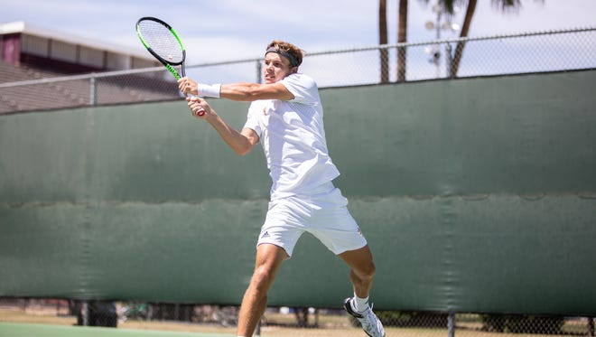 ASU senior Michael Geerts of Belgium is ranked No. 20 nationally in singles and helped the Sun Devils to make the NCAA Tournament in their first year back since 2008.