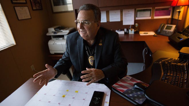 "Detective Robert ""Bo"" Nevarez, with the Doña Ana County Sheriff's Department, talks about his battle with throat cancer on July 17."