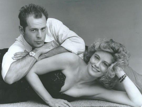 """Bruce Willis and Cybil Shepherd in """"Moonlighting."""""""