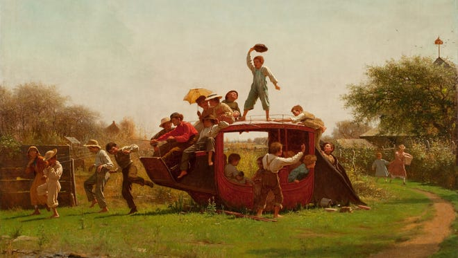 """The Old Stagecoach"" by American painter Eastman Johnson is one of the seminal works in the Layton Art Collection at the Milwaukee Art Museum. An exhibition focusing on the painting, ""Eastman Johnson and a Nation Divided"" is on view at the museum."