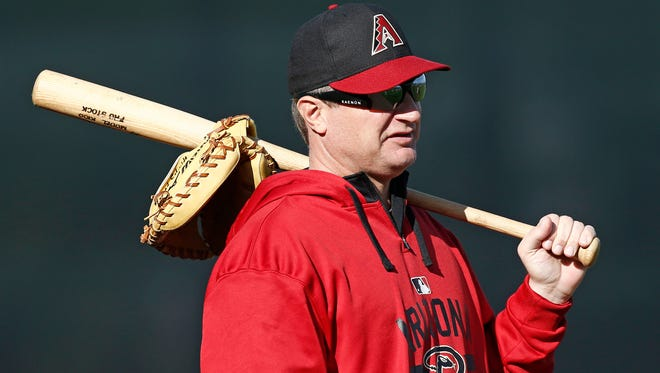 Arizona Diamondbacks minor-league pitching coach Dan Carlson takes a break during spring training practice on Tuesday, Feb.24, 2015, near Scottsdale.