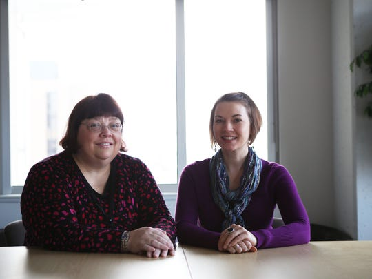 Dr. Lee Ann Conard and social worker Sarah Painer work at the transgender clinic at Cincinnati Children's Hospital that opened in July 2013. They started with only a few patients and now have over 120 patients at the clinic. The Enquirer/ Meg Vogel