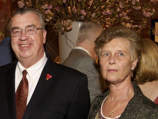 John and Joyce Sheridan at a social event in 2012
