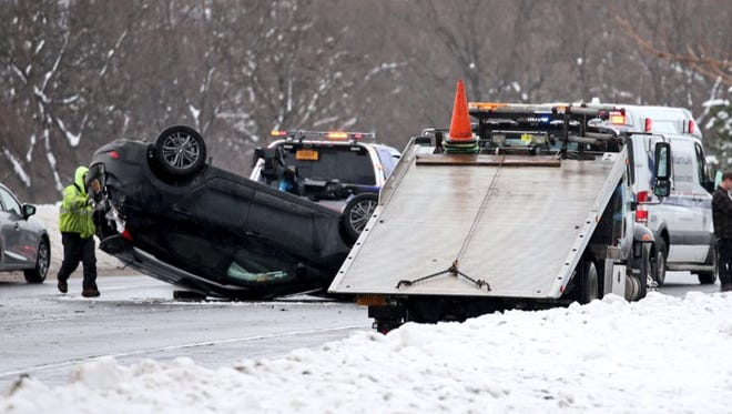 Rollover crash on I-490 East, near Route 31F.