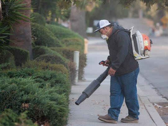 Eric Ibarra, a maintenance worker with Mar Landscape,