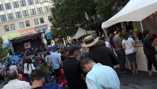 A view of Gibbs Street, or what is known as Jazz Street, during the 2017 Xerox Rochester International Jazz Festival.