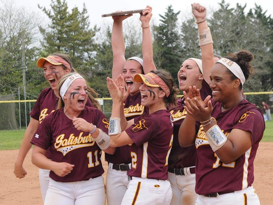 Salisbury University's seniors accept the Capital Athletic Conference Championship plaque match on Saturday, April 23.