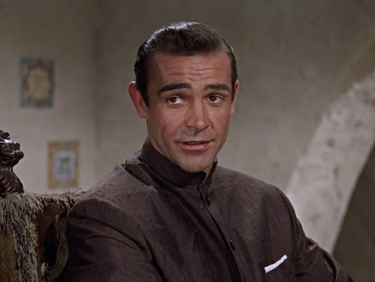 "Sean Connery as James Bond in ""Dr. No."""