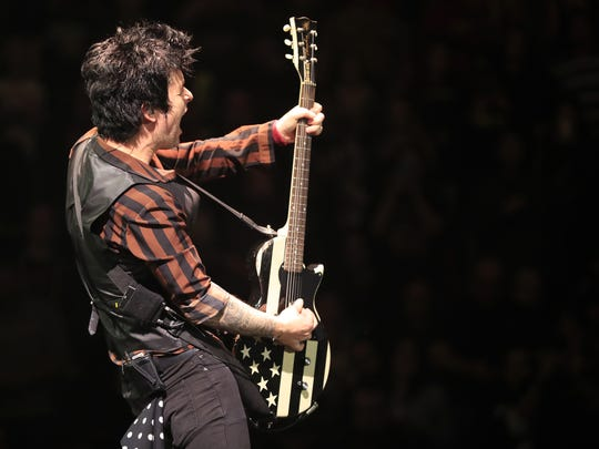 Billie Joe Armstrong performs to a sold-out crowd in March. It was the first time Green Day played Green Bay.