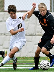 Central York's Evan Smeltzer, right, will return this season for the Panthers, who are attempting to get back to the state playoffs for the first time since 2015. DISPATCH FILE PHOTO