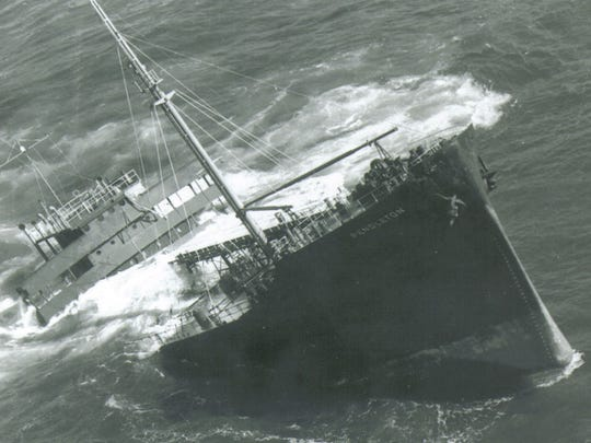 The S.S. Pendleton was broke in half off the Massachusetts coast during a storm in February, 1952. A four-man Coast Guard crew on a small rescue boat saved 32 crewmembers.