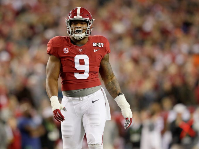Da'Shawn Hand, drafted in the fourth round, had more