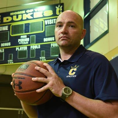 Will Wareham is the Cumberland County College's new men's basketball coach. July 27, 2015. Staff photo/Craig Matthews