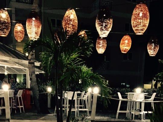 Dinner under the lanterns at the Alexandra Resort in Turks & Caicos.