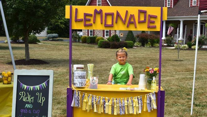 Aida Aleshire, 6, was diagnosed with Type 1 diabetes more than a year ago. Now, through selling lemonade, she is helping raise money to fund research and find a cure for the disease.