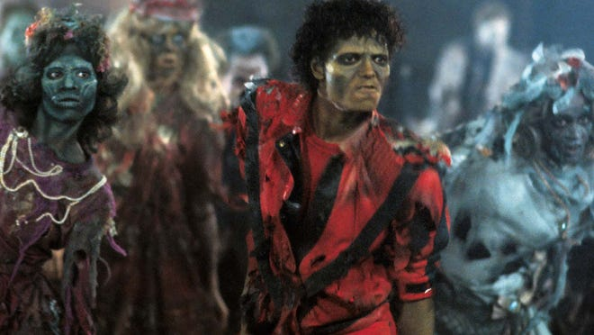 """Michael Jackson starred in this iconic 1983 music video, """"Thriller."""" Thrill the World takes place Oct. 25."""