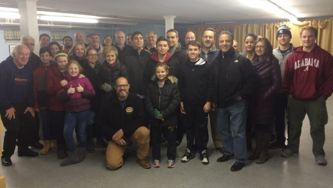 Members of the Cedar Grove UNICO group who participated in the Thanksgiving turkey donation drive in 2016.